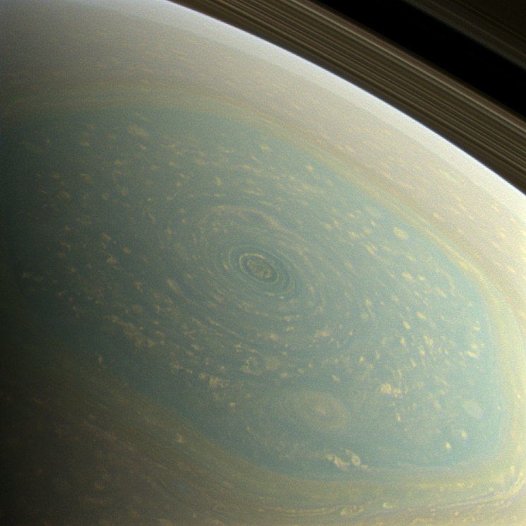 Cassini image of storm on Saturn - April 2013